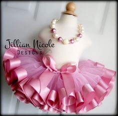 Mauve ~ Rose Quartz Ribbon Trim Tutu. Jillian Nicole Designs on Etsy. https://www.etsy.com/listing/293283703/mauve-ribbon-trim-tutu-pageant-tutu?ref=listing-shop-header-1