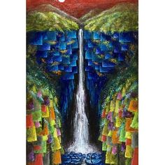 【godo_terasawa】さんのInstagramをピンしています。 《こないだの個展での新作たち①  title : 『NACHI #2』 size : M8(273×160mm) acrylic on canvas, 2017  #terasawart #熊野の幻風景 #art #painting #滝 #那智の滝 #nachi #nachifalls #fall #greatfalls #絵 #絵描き #painter #美術 #fineart #芸術 #color #forest #deepforest #森林 #絵画 #アクリル画 #acrylic #acrylicpainting #月 #moon #月夜 #月光 #moonlight》