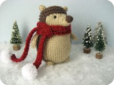 This pattern will instruct you on how to knit my original amigurumi Winter Hedgehog doll with scarf, and I have included lots of photos to help you along the way! A perfect toy to knit up for Christmas!