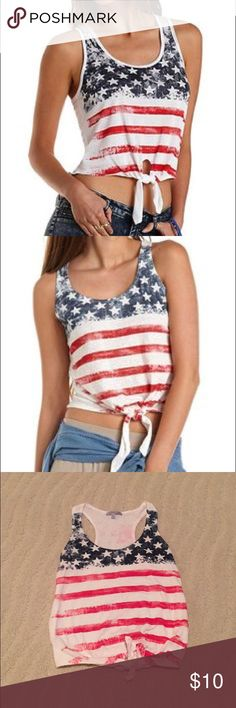 American Flag Tank Cute USA tank - wear on the Fourth of July of to America themed parties! Charlotte Russe Tops Tank Tops