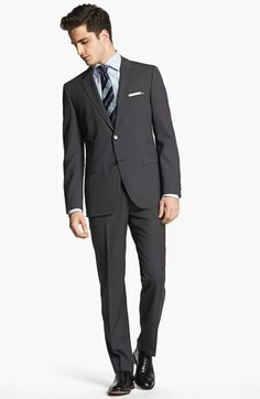 BOSS Black 'James/Sharp' Trim Fit Wool Suit available at #Nordstrom