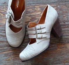 These might be a little too modern, but the idea is good.  Just discovered ReMix vintage reproduction 20's/30's shoes. I'm kind of in love with a lot of their stuff right now. I also have this overwhelming urge to watch Boardwalk Empire or The Changeling.