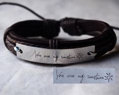 Your place to buy and sell all things handmade Couple Bracelets Leather, Matching Couple Bracelets, Leather Jewelry, Girlfriend Anniversary Gifts, Leather Anniversary Gift, Boyfriend Birthday, Boyfriend Girlfriend, Bracelets For Boyfriend, Bracelets For Men