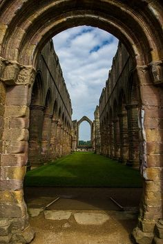 Fountains Abbey in North Yorkshire, England