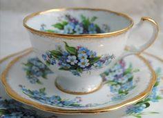 Forget Me Not Beauty  Terri's beautiful tea cups  artfulaffirmations.blogspot.com