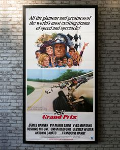The most daring drivers in the world have gathered to compete for the 1966 Formula One championship. After a spectacular wreck in the first of a series of races, American wheelman Pete Aron (James Garner) is dropped by his sponsor. Refusing to quit, he joins a Japanese racing team. While juggling his career with a torrid love affair involving an ex-teammate's wife, Pete must also contend with Jean-Pierre Sarti (Yves Montand), a French contestant who has previously won two world titles. Brian Bedford, Toshiro Mifune, Saint Yves, One Championship, Francoise Hardy, Original Movie Posters, Racing Team, Second World, Love Affair