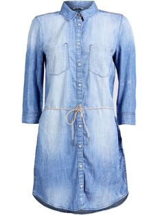 DENIM KJOLE, Light Blue Denim