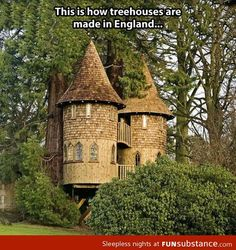 So apparently this tree house is actually located in Kilmarnock, Scotland. But it doesn't really matter where it's located, I just want one in my back yard :)