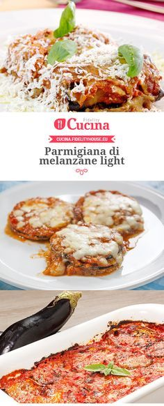 Recipes - Parmigiana di melanzane light adatta a tutti Easy Meals For Two, Healthy Meals For Two, Good Healthy Recipes, Vegetarian Recipes, Cooking For Two, Easy Cooking, Healthy Cooking, Cooking Recipes, Cena Light