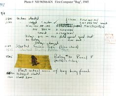 First computer bug as documented by Grace Hopper
