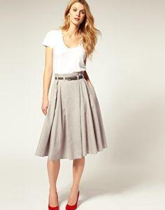 Enlarge ASOS Belted Super Full 7/8 Skirt