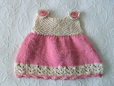 Hand Knitted Cotton Baby Girl Dress Smock by CottonPickings, $39.00