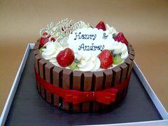kitkat cake :D
