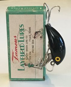 "vintage famous layfield lures. patented by jester & floyd ""cotton, Fishing Bait"