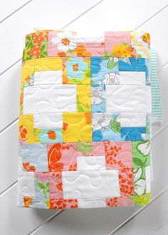 Love this spin on the Cross block.  inside out - quilting by Angela - Fussy Cut, via Flickr