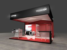 Corporate identity for trade shows | TROJANUV by QUAM Brand Environment Design , via Behance