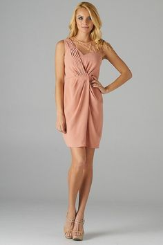 sincerely sweet dress | Pink Lace Mesh Asymmetric Cinched Dress