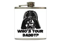 Darth Vader Flask 6oz Who's Your Daddy by BrilliantBashes on Etsy, $18.00