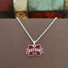 Mississippi State Bulldogs Enamel Logo Charm Necklace