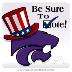 Election Day K-State Powercat posted on my Robel Graphics Facebook page.
