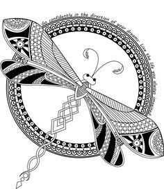 DragonFly Mandala by LotusArtStudio
