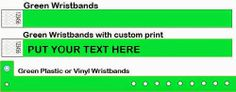 www.Trendywristbands.com: Green Tyvek and Vinyl Wristbands For Events