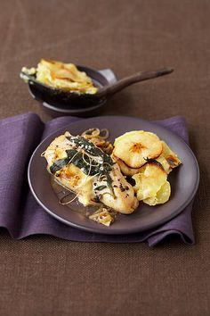 Hähnchen mit Kartoffel-Apfelgratin