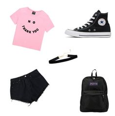 """Untitled #4"" by madi-falk on Polyvore featuring Converse and JanSport"