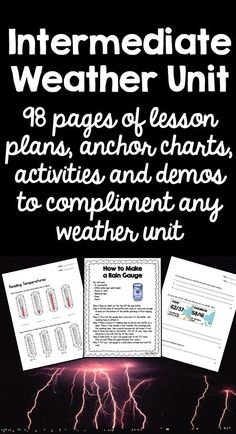 This massive bundle contains resources to teach all aspects of weather to intermediate students. Nearly 100 pages of lesson plans, posters, worksheets and assessments.
