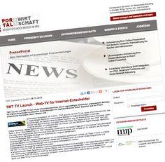 TWT TV Launch - Web-TV für Internet-Entscheider www.portalderwirtschaft.de/pages/pm/?show=177932