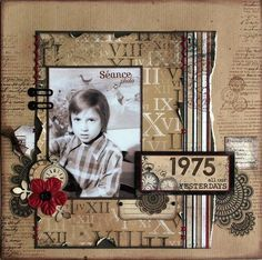 heritage scrapbook layouts - Google Search