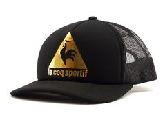 047264b80c Le Coq Chatoiement Cap in Black and Gold #lecoqsportif #cap Hat Stores, Hat