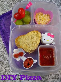 Becoming A Bentoholic: DIY Pizza  #EasyLunchboxes