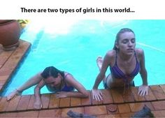 @mk two types of girls in the world I feel like we're both the one on the left half the time lol!