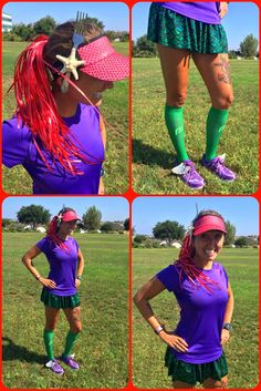 How to create an easy DIY Little Mermaid running costume. Not only is this Ariel…