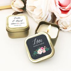 Check out the deal on Gold Candle Tins - Floral Garden at Wedding Favorites | Unique Wedding Favors | Baby Shower Favors | Bridal Shower Favors