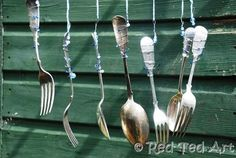 Windchime made of silverware - for music wall?