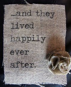 Burlap... oh I want this in a gorgeous frame with lace and Burlap flowers on the entry table <3