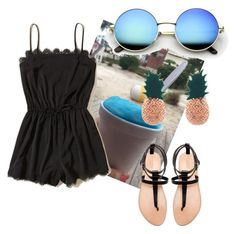 """""""Life at the beach"""" by wacawaca ❤ liked on Polyvore featuring Hollister Co., Zara and Aamaya by Priyanka"""