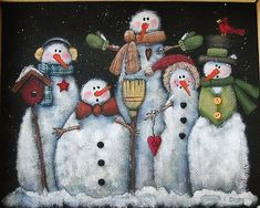 Tole Painting Pattern Glacier Men or Snowmen by barbsheartstrokes