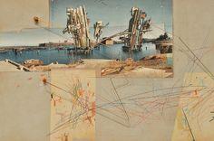"Lebbeus Woods, ""Shard House"" from ""San Francisco: Inhabiting the Quake"" (1995)"