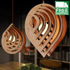 Modern Water Drop Wooden Chandelier