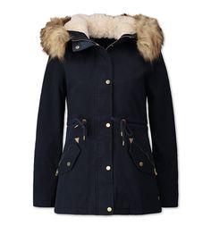 Parka dans bleu foncé Winter Love, Winter Fits, Fall Winter Outfits, Winter Fashion, Duffle Coat, Canada Goose Jackets, Bedrooms, Winter Jackets, Lily