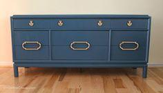 bold modern dresser makeover, painted furniture, Bold Dresser After
