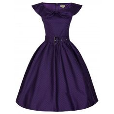 Hetty Purple Swing Dress | Vintage Inspired Fashion - Lindy Bop