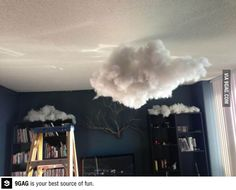 A realistic looking cloud you could install on your bedroom sealing.  OMG TOO COOL