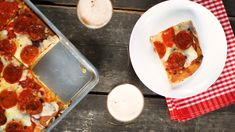 Grandma-Style Pizza- Everyday Food with Sarah Carey Sarah Carey, Recipe Email, Good Food, Yummy Food, Healthy Pizza, Pasta, Everyday Food, Food Videos, Recipes