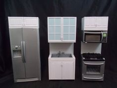 Barbie Kenmore Kitchen Playset Sink Stove Oven Refrigerator Microwave