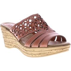 Designer Clothes, Shoes & Bags for Women Pink Sandals, Slide Sandals, Shoes Sandals, Sandals Platform, Leather Wedge Sandals, Spring Step, Pink Leather, Espadrilles, High Heels