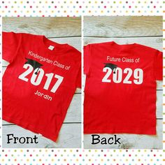 Kindergarten Graduation Shirt / Kindergarten Graduation Gift /